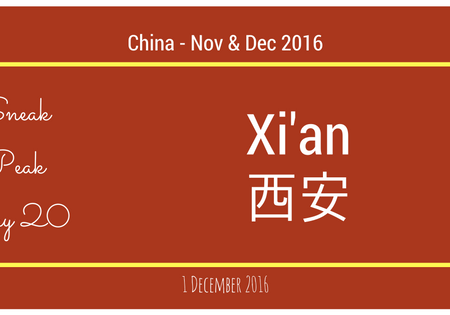 China 2016 - Day 20 - Xi'an